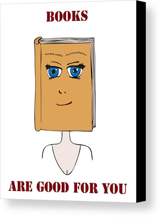 Books Canvas Print featuring the painting Books Are Good For You by Frank Tschakert