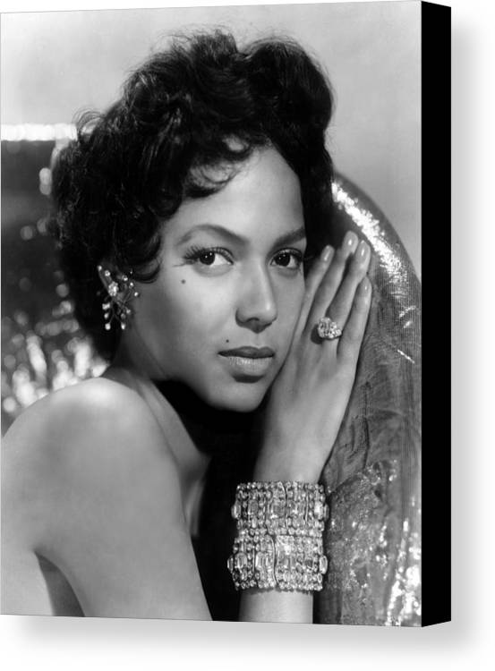 1950s Portraits Canvas Print featuring the photograph Dorothy Dandridge, Circa 1959 by Everett