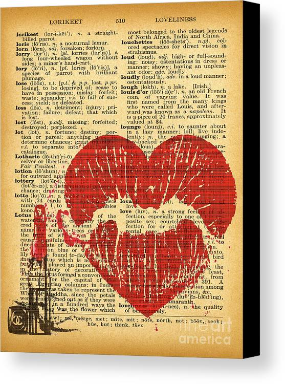 Vintage Dictionary Fashion Wall Art Canvas Print / Canvas Art by ...