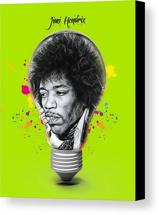Jimi Hendrix Canvas Print featuring the mixed media Jimi Hendrix Electric by Marvin Blaine
