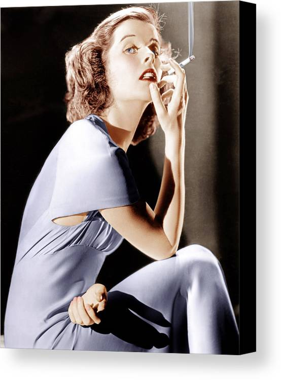 1930s Portraits Canvas Print featuring the photograph Katharine Hepburn, Ca. 1930s by Everett