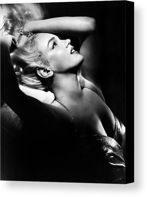 1950s Portraits Canvas Print featuring the photograph Marilyn Monroe, Ca. Early 1950s by Everett