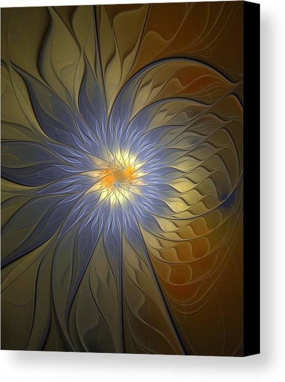 Digital Art Canvas Print featuring the digital art Something Blue by Amanda Moore
