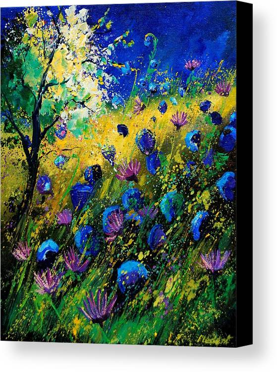 Poppies Canvas Print featuring the painting Summer 450208 by Pol Ledent