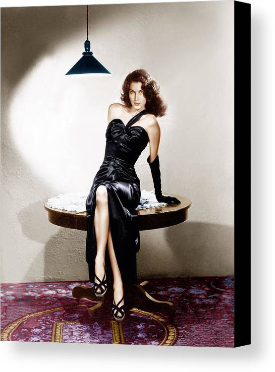 1940s Portraits Canvas Print featuring the photograph The Killers, Ava Gardner, 1946 by Everett