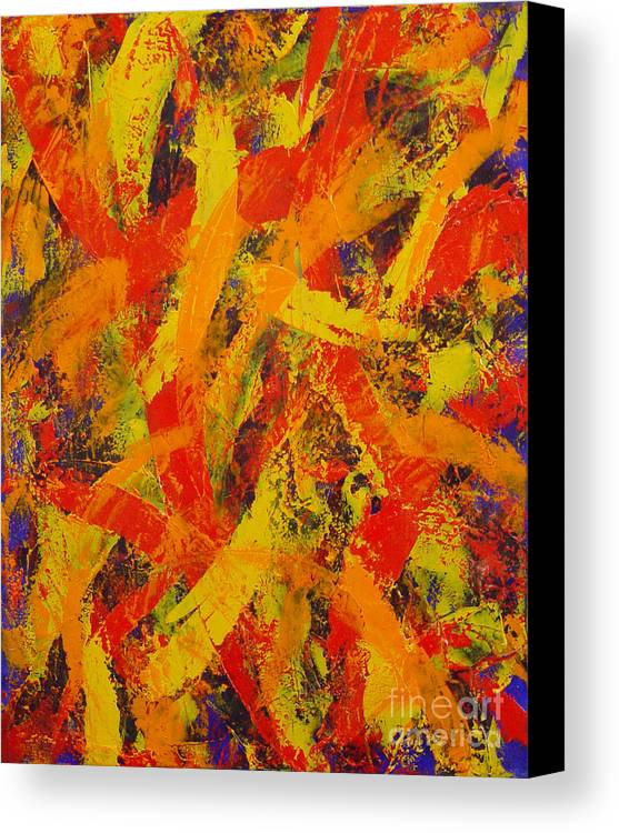 Abstract Canvas Print featuring the painting Untitled by Dean Triolo