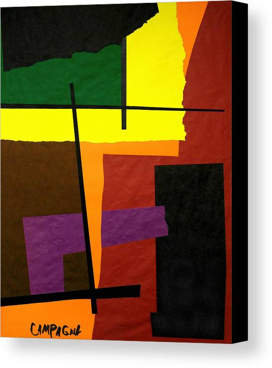 Cut Paper Canvas Print featuring the tapestry - textile Untitled by Teddy Campagna
