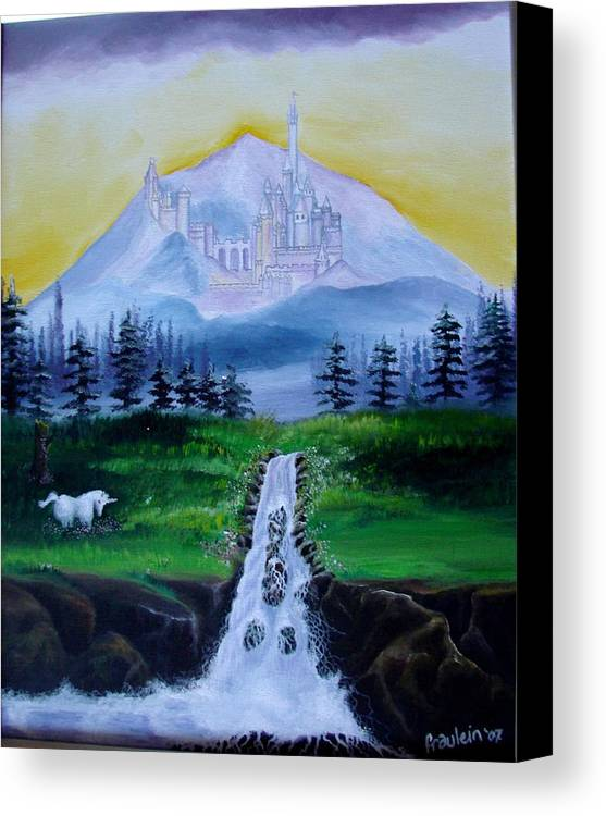 Landscape Canvas Print featuring the painting A Fairytale by Glory Fraulein Wolfe