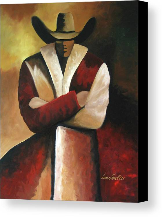 Abstract Cowboy Canvas Print Canvas Art By Lance Headlee