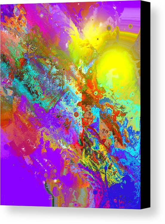 Abstract Canvas Print featuring the digital art Abstract Eight-chroma by Patricia Motley