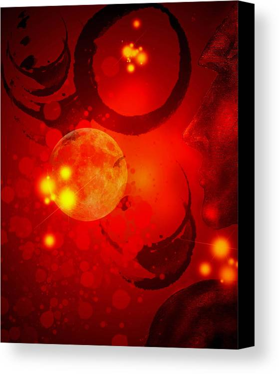 Office Wall Art Canvas Print featuring the digital art Abstract-nebula by Patricia Motley