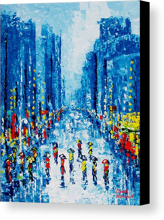 Abstract Canvas Print featuring the painting Across Town by Claude Marshall