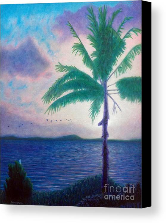 Clouds Canvas Print featuring the painting After All by Brian Commerford