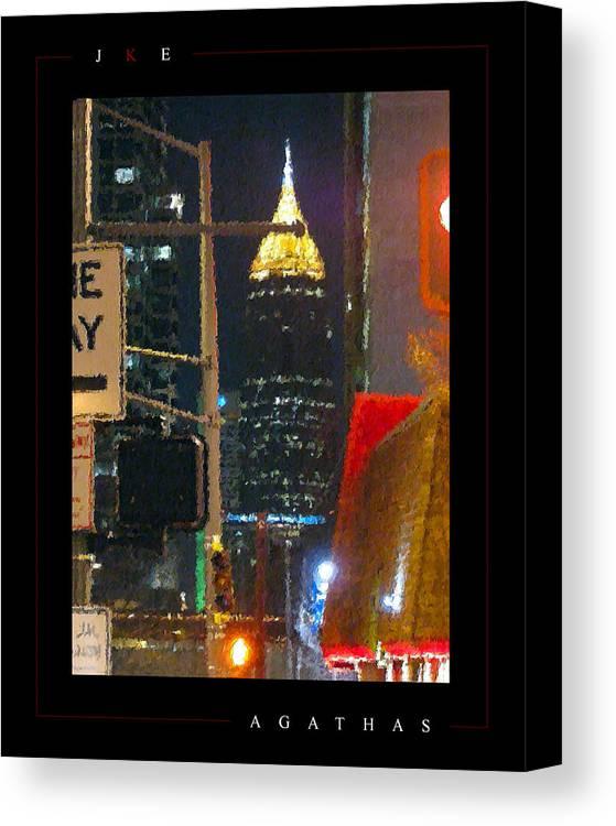 Atlanta Canvas Print featuring the photograph Agathas by Jonathan Ellis Keys