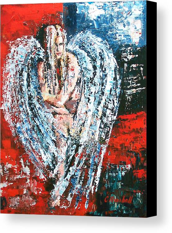 Art Canvas Print featuring the painting Angel In The Light by Claude Marshall