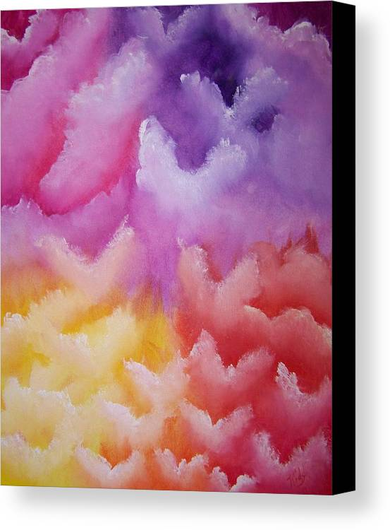 Artwork Angels Canvas Print featuring the painting Angelic Visitation by Laurie Kidd
