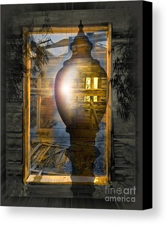 Ghost Canvas Print featuring the digital art Apparition by Chuck Brittenham