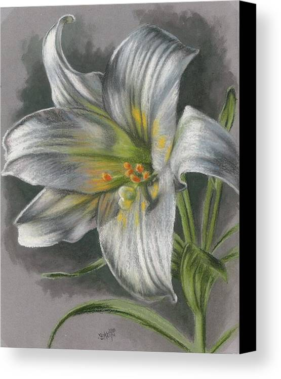 Easter Lily Canvas Print featuring the mixed media Arise by Barbara Keith