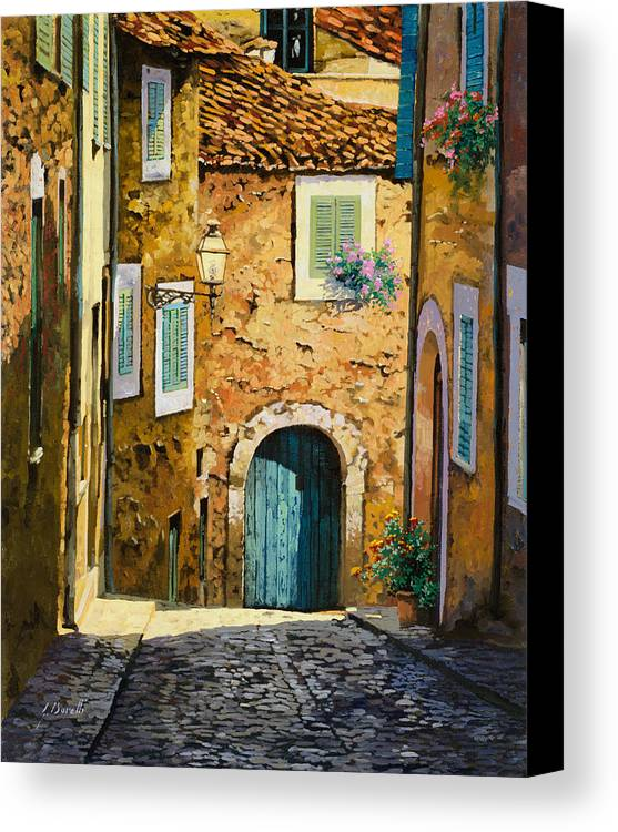 Landscape Canvas Print featuring the painting Arta-mallorca by Guido Borelli