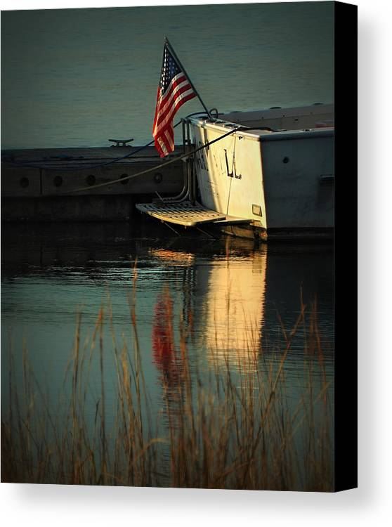 Patriotic Canvas Print featuring the photograph At Peace by Laura Ragland