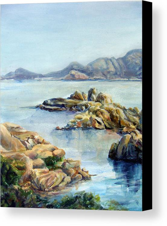 Landscape Canvas Print featuring the painting Baie by Muriel Dolemieux