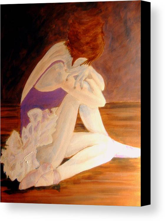 Ballerina Canvas Print featuring the painting Ballerina04 - Acrylic by Donna Hanna