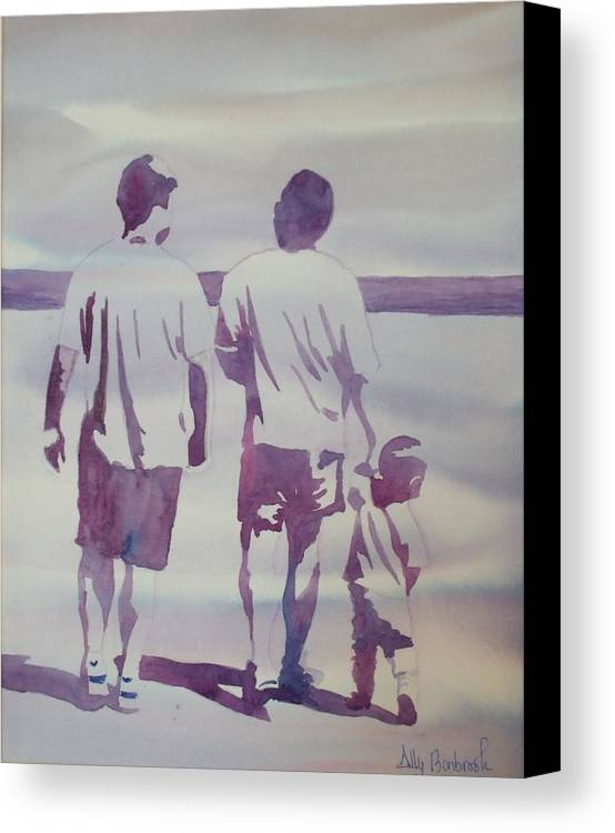 Family Canvas Print featuring the painting Beach Boys by Ally Benbrook