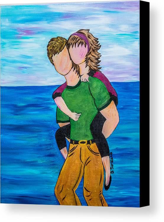 Beach Canvas Print featuring the painting Bella by Dana Sardano