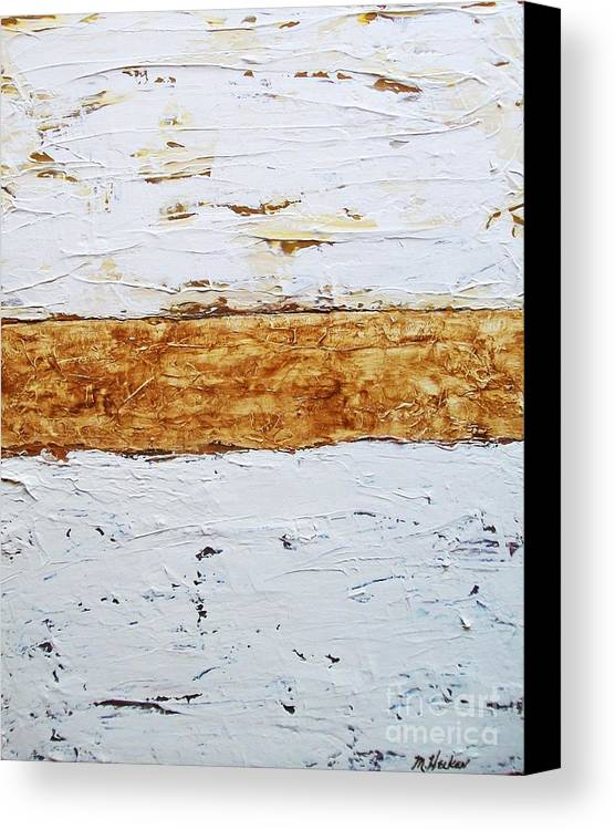 White Canvas Print featuring the painting Birchwood by Marsha Heiken