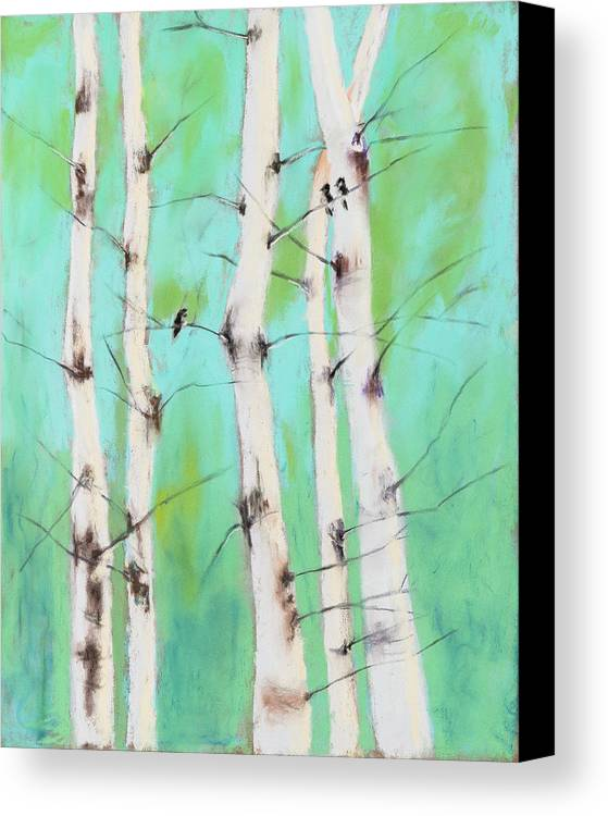 Painting Canvas Print featuring the painting Birdsong by Lee Beuther