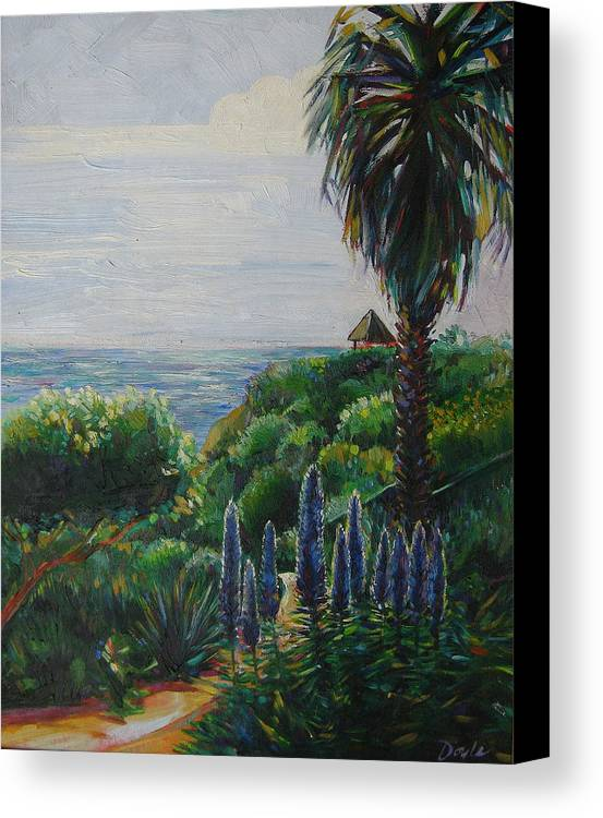 Beach Canvas Print featuring the painting Blue Flowers by Karen Doyle