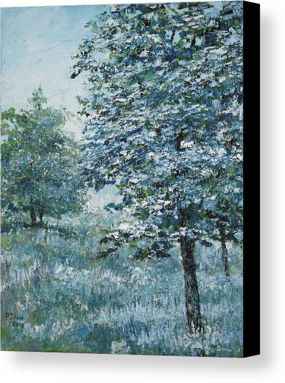 Tree Canvas Print featuring the painting Blue Trees by Paul Illian