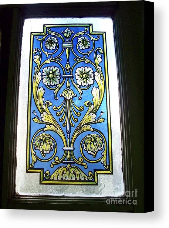 Blue Window Canvas Print featuring the photograph Blue Window by Seaux-N-Seau Soileau