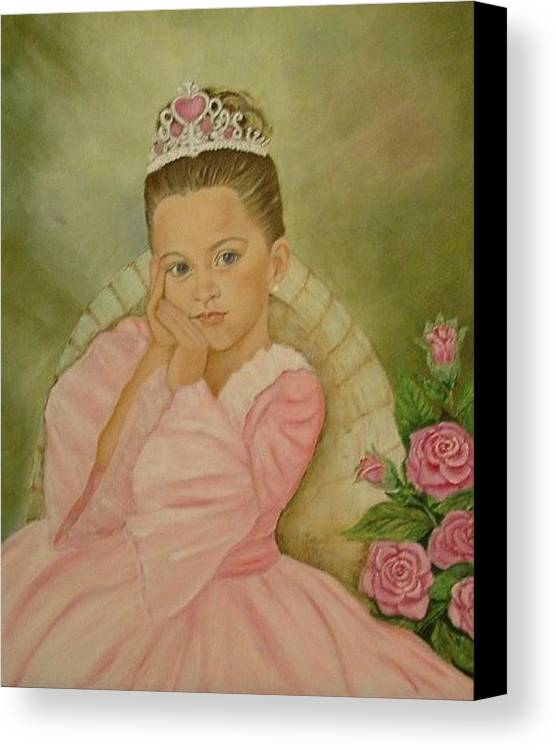 Princess Canvas Print featuring the painting Brianna - The Princess by Tresa Crain