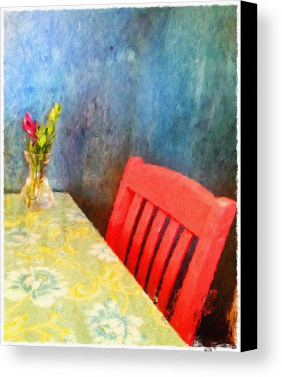 Bistro Canvas Print featuring the digital art Cafe Menu Background by Jim Thomas