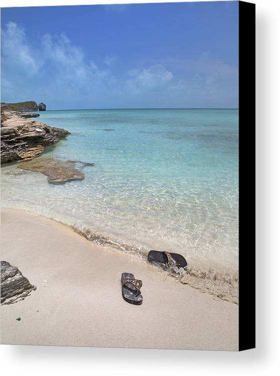Flip Canvas Print featuring the photograph Caribbean Flippin Flops by Betsy Knapp