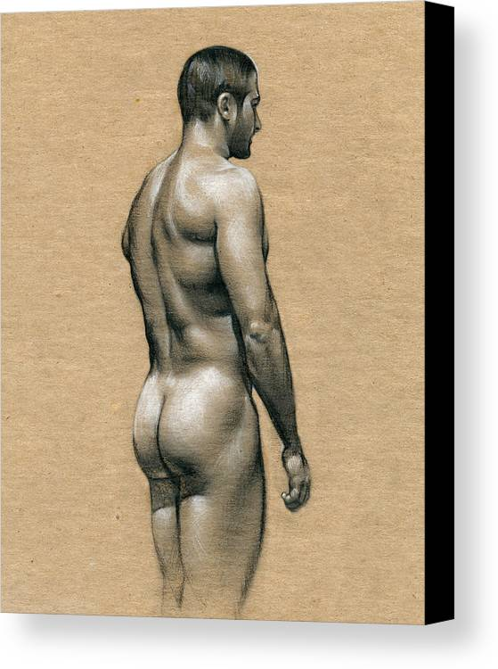 Male Canvas Print featuring the drawing Carlos by Chris Lopez