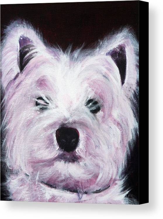 Dog Canvas Print featuring the painting Cassie by Fiona Jack