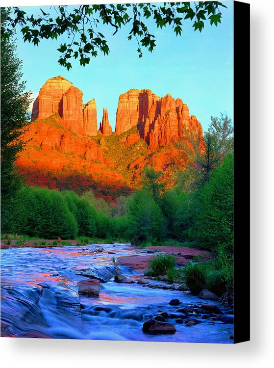 Sedona Canvas Print featuring the photograph Cathedral Rock by Frank Houck