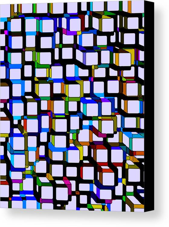Abstract Canvas Print featuring the digital art Childhood Memories by Ruth Palmer
