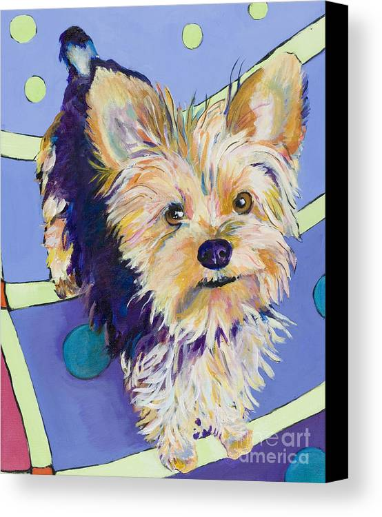 Pet Portraits Canvas Print featuring the painting Claire by Pat Saunders-White