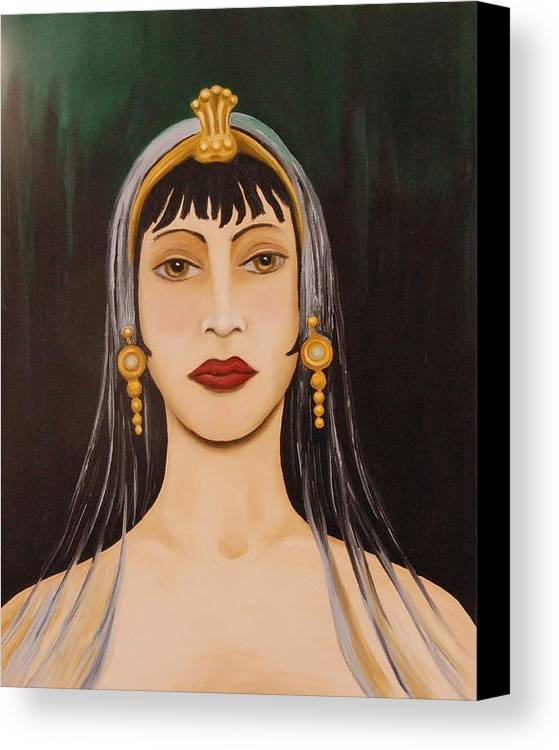 Tiara Canvas Print featuring the painting Cleo by Leah Saulnier The Painting Maniac