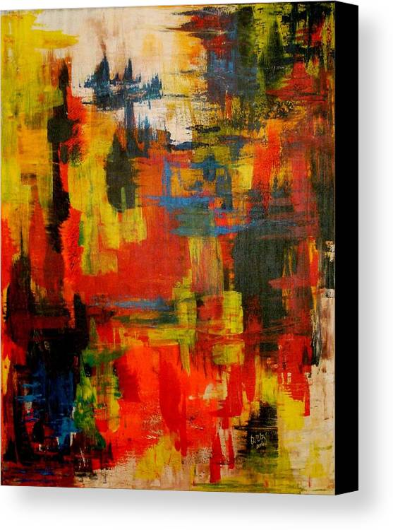Abstract Canvas Print featuring the painting Colorfull Dreams by Ofelia Uz