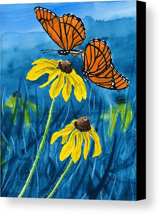 Animals Canvas Print featuring the painting Colors Of Spring by Wade Clark