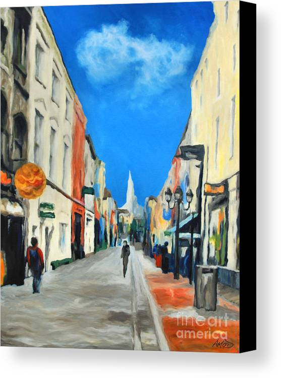 Architectural Canvas Print featuring the painting Cook Street  Cork Ireland by Anne Marie ODriscoll