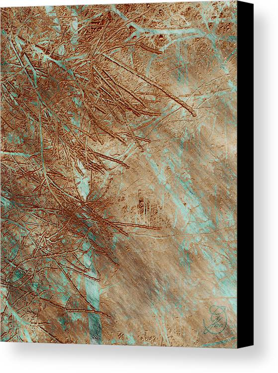 Pine Canvas Print featuring the digital art Copper Pines by Gae Helton