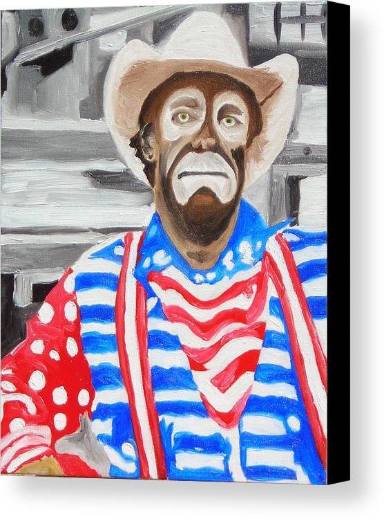 Rodeo Canvas Print featuring the painting Cowboy Savior by Michael Lee