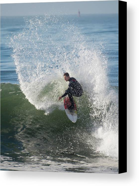 Surfing Canvas Print featuring the photograph Cutback Splash by Bruce Frye