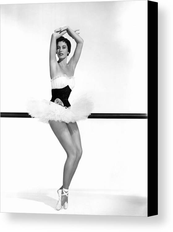 1950s Portraits Canvas Print featuring the photograph Cyd Charisse, 1955 by Everett
