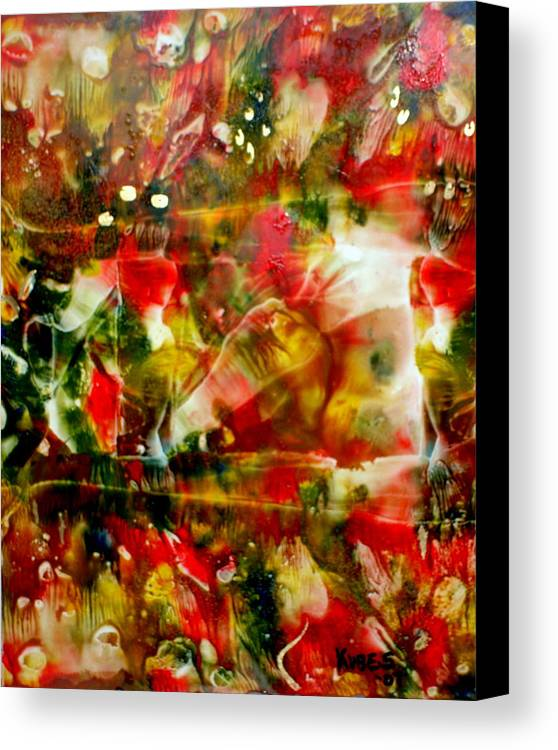 Window Canvas Print featuring the painting Deck The Halls by Susan Kubes